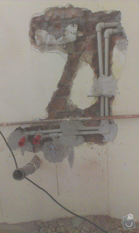 Instalace 4x zásuvky, přemístění pračkového kohoutu, dřezové baterie, odmontování dveří a futer: IMAG1512