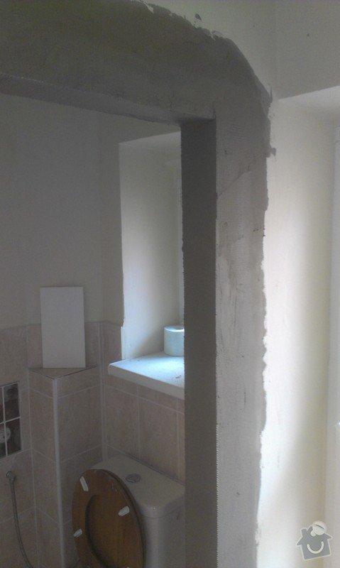 Instalace 4x zásuvky, přemístění pračkového kohoutu, dřezové baterie, odmontování dveří a futer: IMAG1583