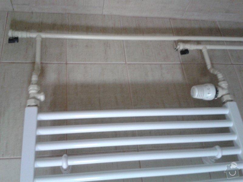 Žebřík v koupelně - změna vytápění z plynu na elektriku: 20130625_202502