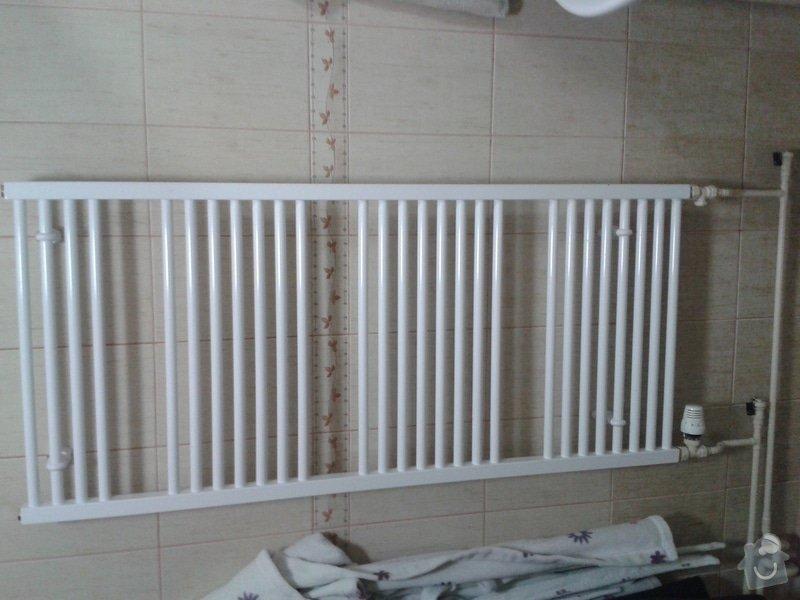 Žebřík v koupelně - změna vytápění z plynu na elektriku: 20130625_202521