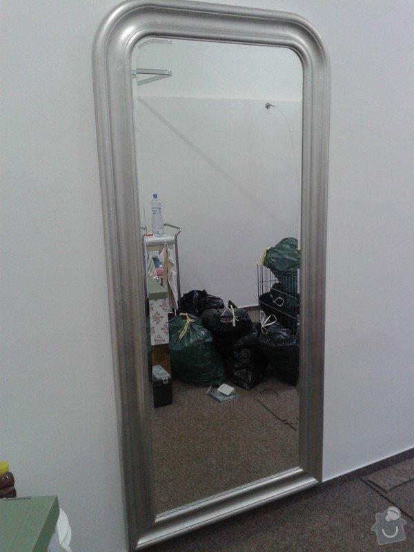 Pověšení velkých zrcadel, přivrtání polic věšáků na stěnu: 20130627_135131