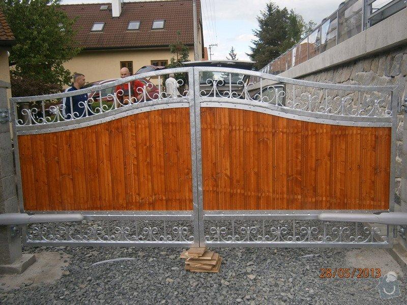 Dvoukřídlá brána a branka: P5281357
