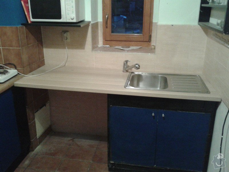 Zkrácení, upravení a montáž pracovní desky (kuchyň): 20130630_214604
