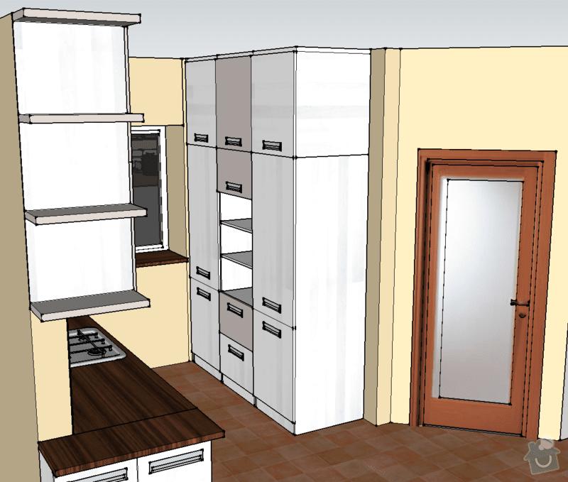Návrh, výroba a montáž kuchyňské linky: pohled_2A