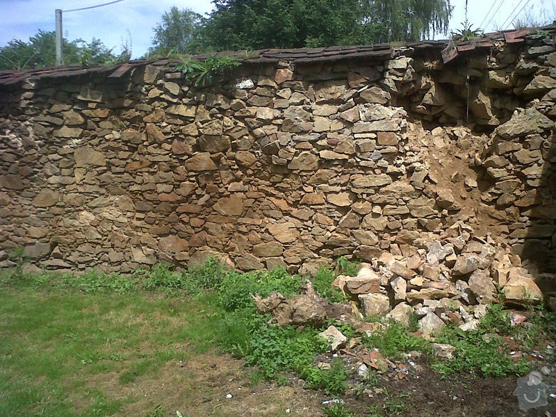 Oprava kamenné zdi: zed1
