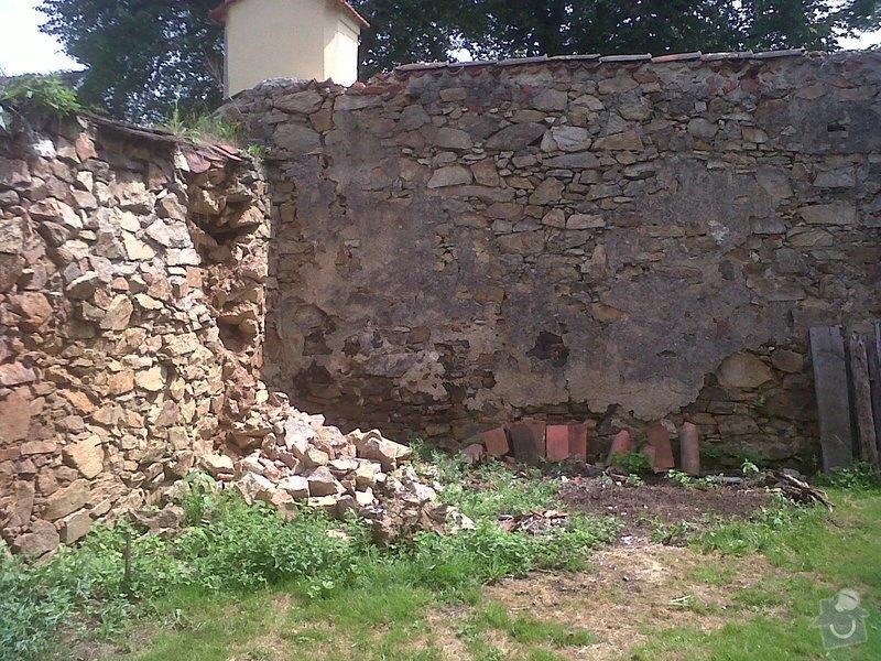 Oprava kamenné zdi: zed2