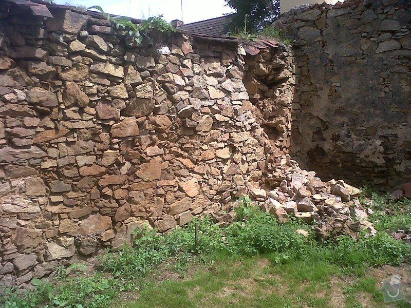 Oprava kamenné zdi: zed3