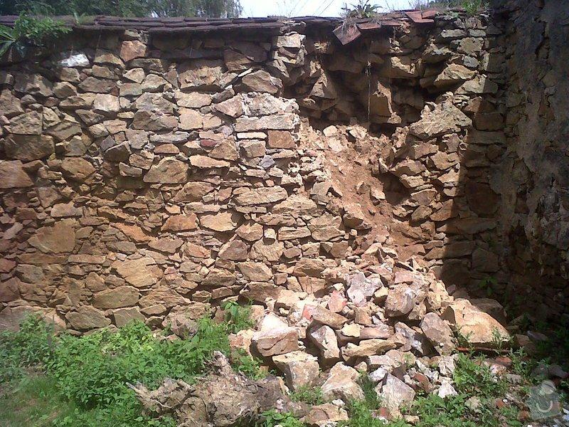 Oprava kamenné zdi: zed4
