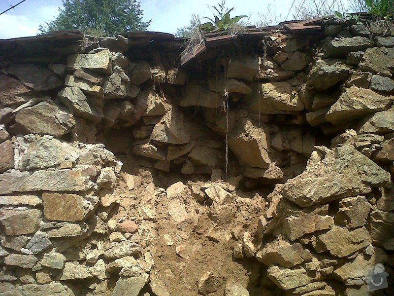 Oprava kamenné zdi: zed5