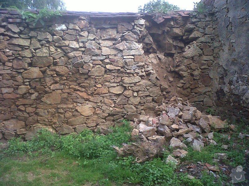 Oprava kamenné zdi: zed6