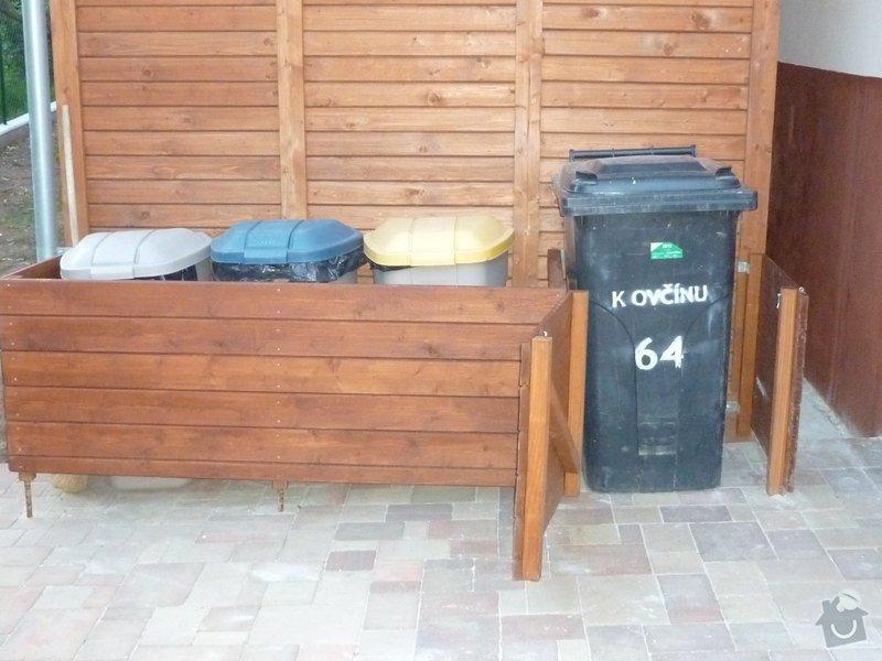 Ohrádka na plastové popelnice: P1020237