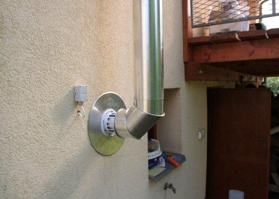 Montáž kondenzačního kotle Vaillant + zásobníku + regulace + komínu