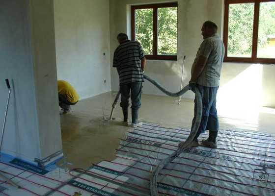 Realizace lite podlahy