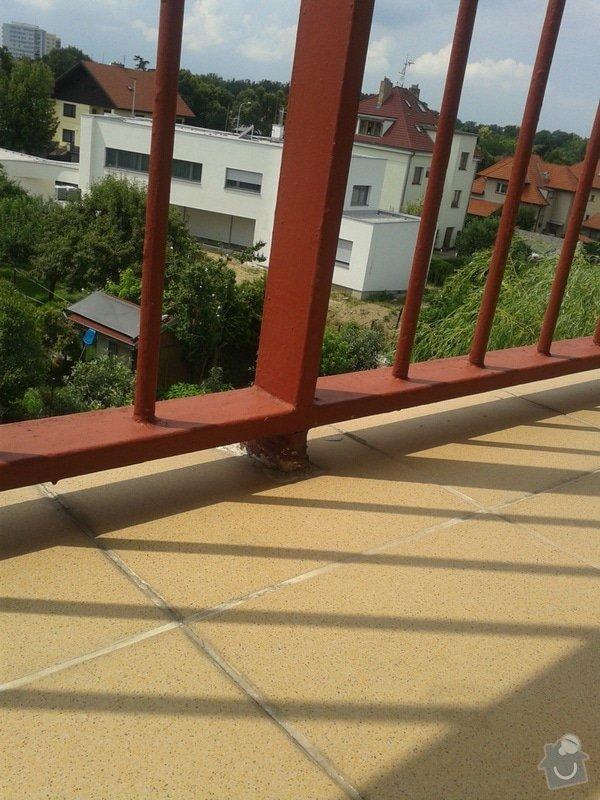Zámečnické/svářečské práce - posunutí balkónového zábradlí: bb
