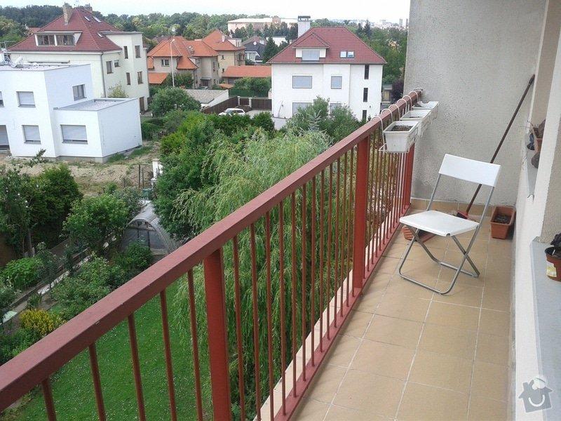 Zámečnické/svářečské práce - posunutí balkónového zábradlí: bbb