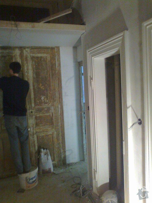 Renovace zdí sadrove omitky + renovace dveri a oken: Fotografie0006