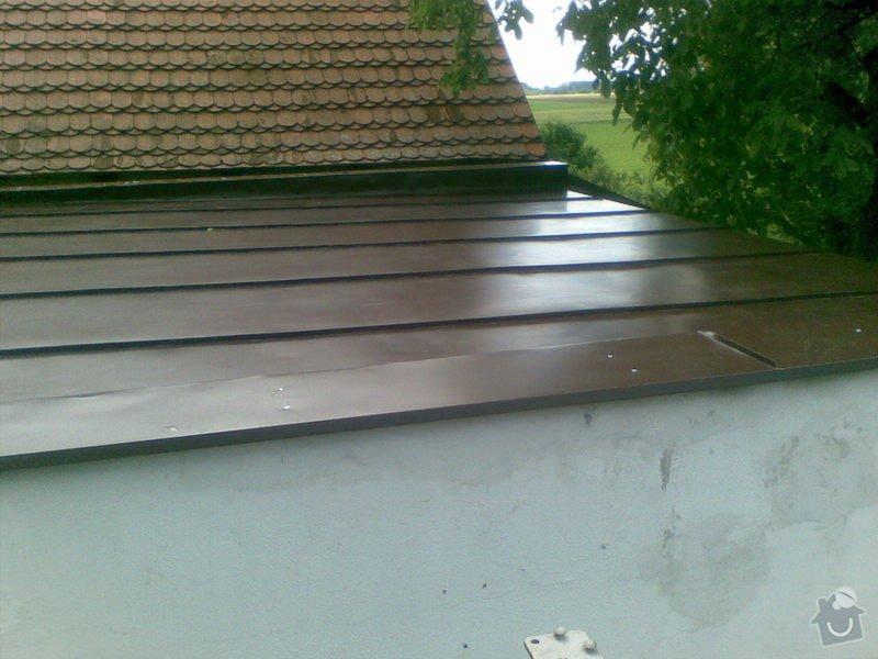 Falcovaná střecha,fasáda,dlažba: 001