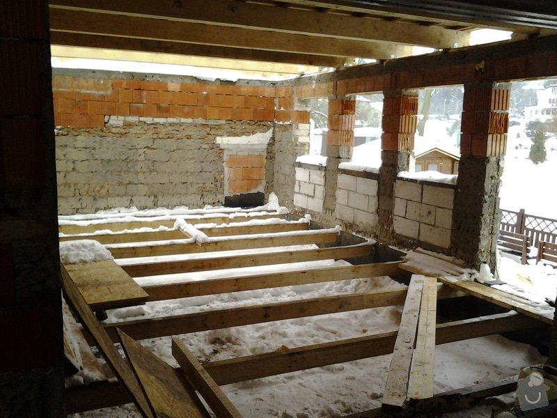 Podlaha v drevostavbe - zatopova oblast: 20130224_165356