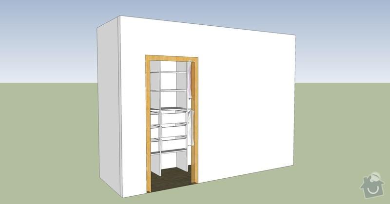 Šatna + dveře: VAR_2_satna_pohled_4_r