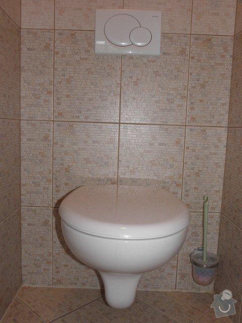 Rozvod vodoinstalace a topného systému vč. podlahového topení: wc