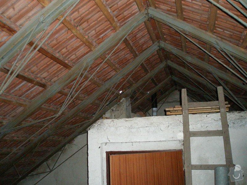 Izolace střechy folií, oprava plechů : P1220102