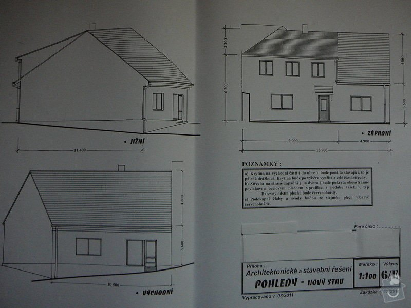 Nový krov, věnec, nástavba, krytina: P1110423