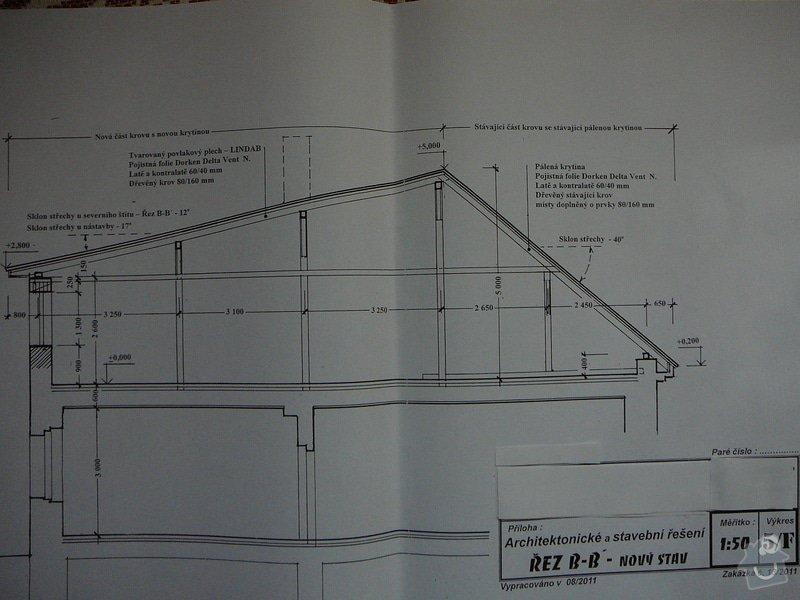 Nový krov, věnec, nástavba, krytina: P1110422