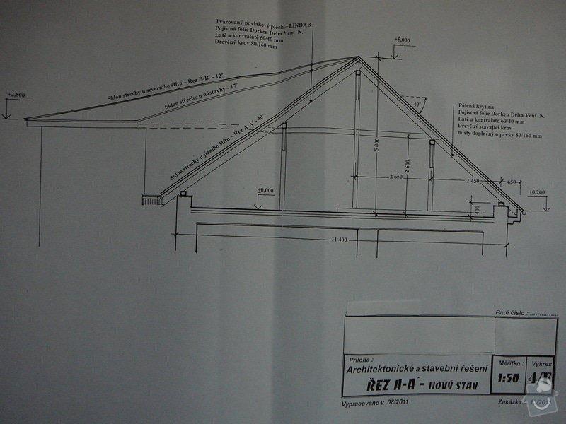 Nový krov, věnec, nástavba, krytina: P1110421