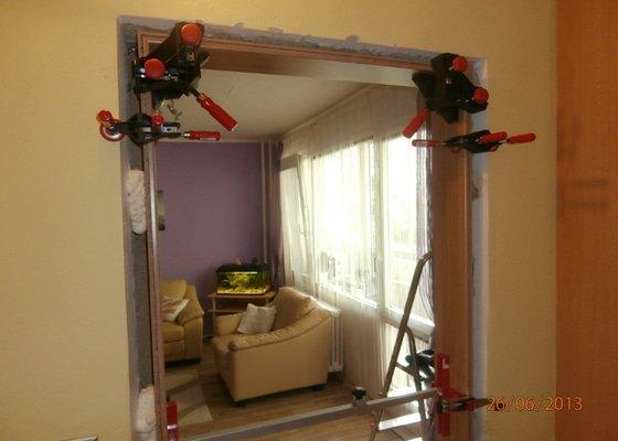 Zhotovení 1ks interiérových posuvných dveří včetně zárubně