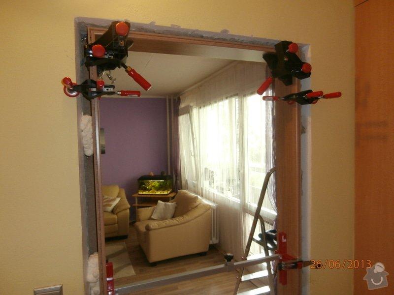 Zhotovení 1ks interiérových posuvných dveří včetně zárubně: Posuv1