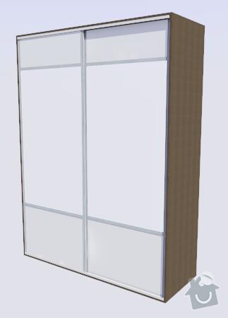 Vestavná skřín do ložnice: S_dvermi
