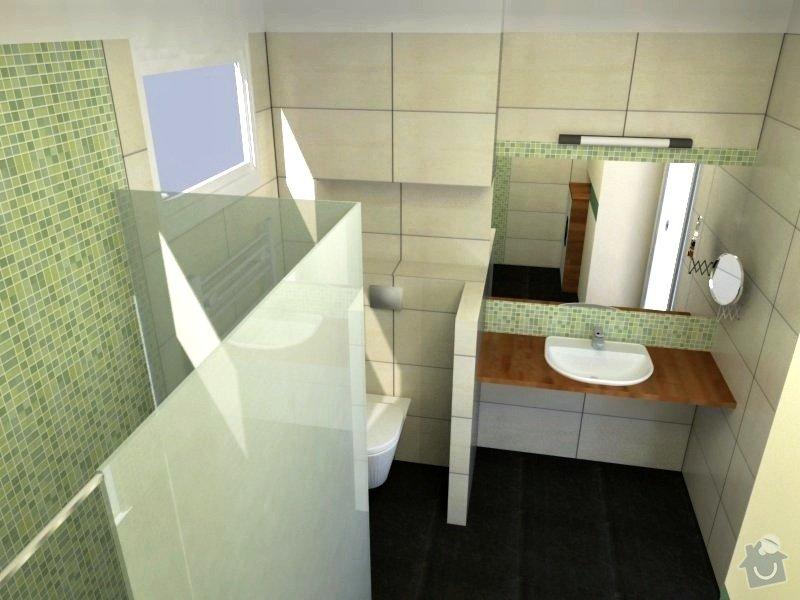 Koupelna s atypickým sprchovým koutem: Trv__navrh3d_ver.3