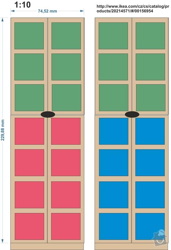 Výrobu dveří ke skříním: truhlar