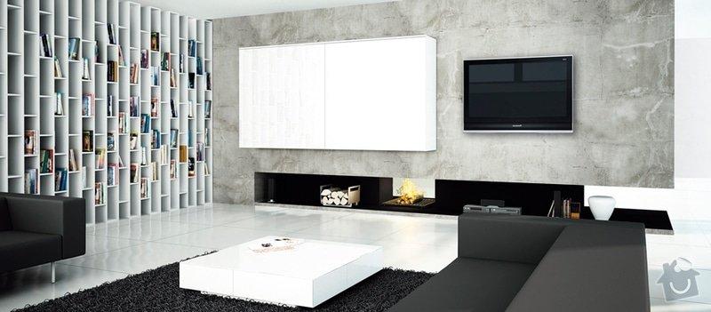Imitace betonu stěna interiéru: OBVAC-_1