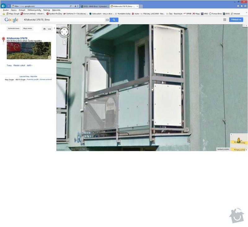 Lodžie-zasklení balkónu: Kridlovicka