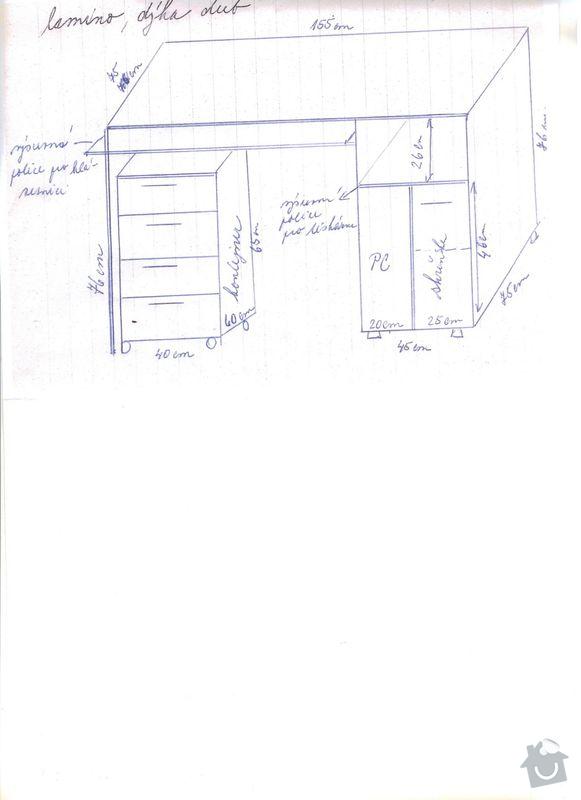 Výroba stolu pod PC: Stul