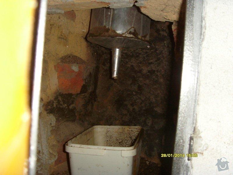 Vyvložkování komínu bez frézování.: S73R0042