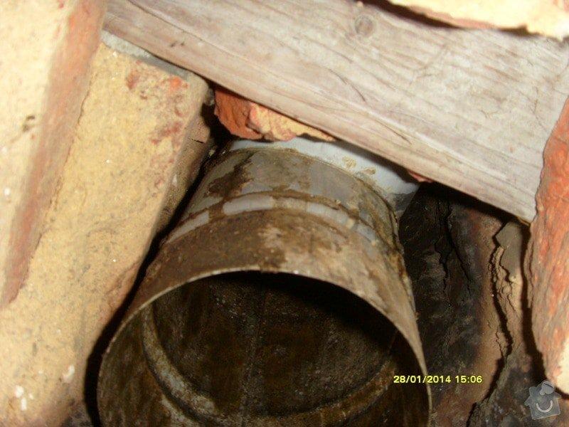 Vyvložkování komínu bez frézování.: S73R0043