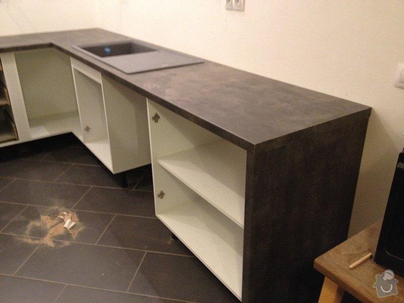 Instalace pracovní desky v kuchyni: 066
