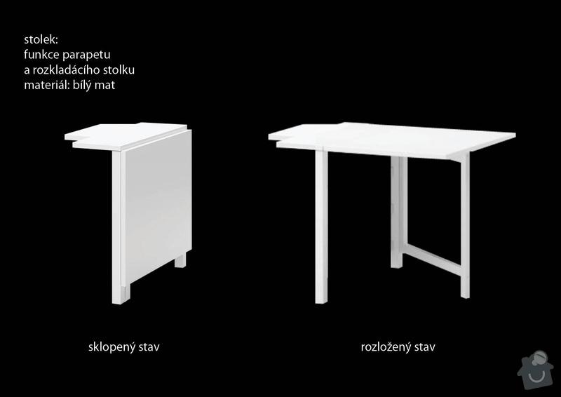 Truhlářské práce (sklápěcí stolek + jednoduchá lavice): stolek_3D