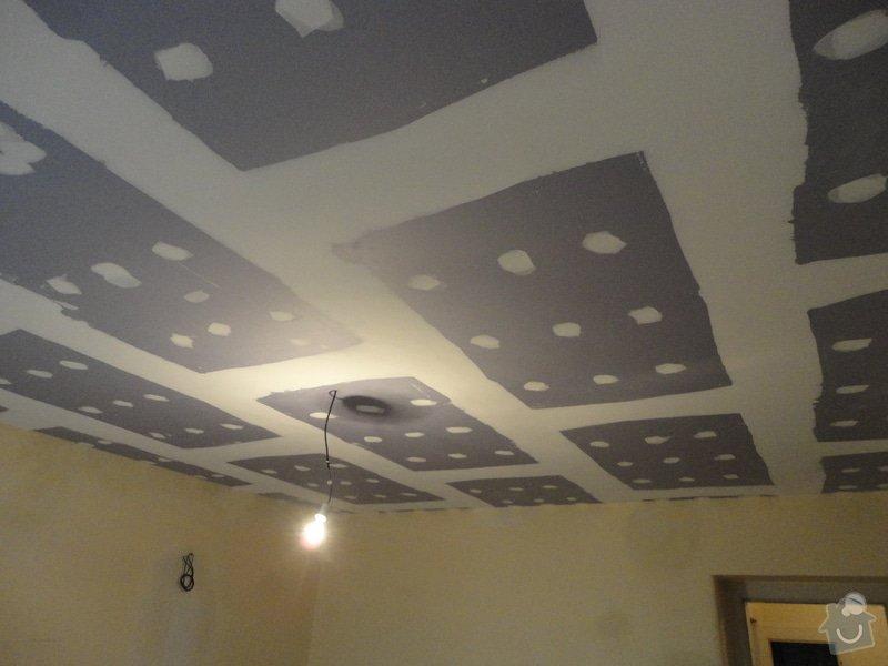 Sádrokarton - stropy s ukotvením: DSC01539