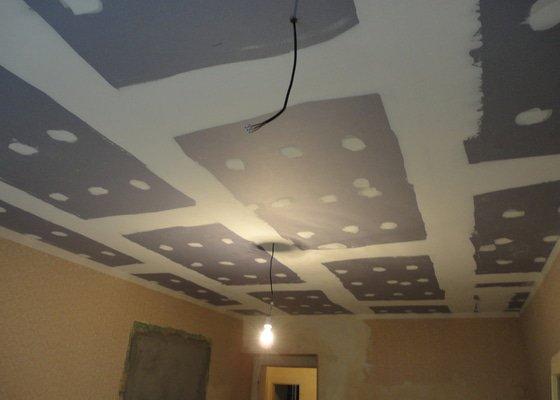 Sádrokarton - stropy s ukotvením