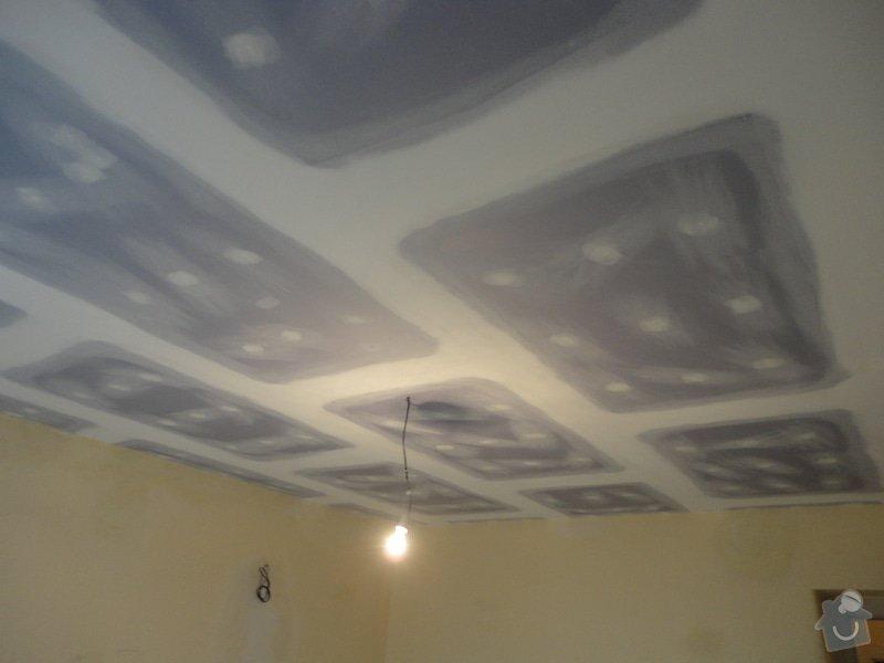 Sádrokarton - stropy s ukotvením: DSC01545