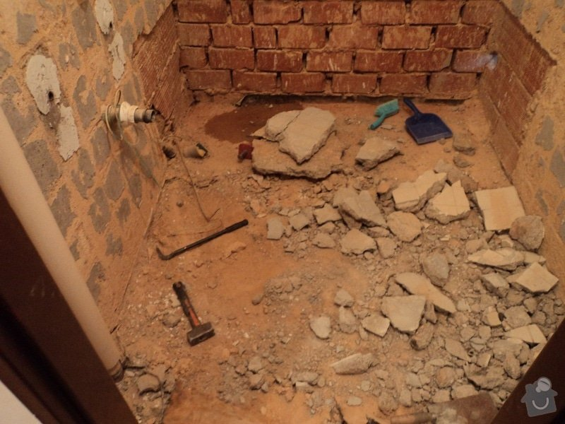 Rekonstrukce koupelny cca 2 x 1,6m: 1