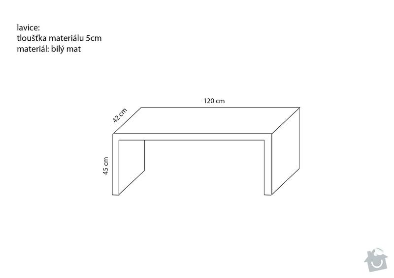 Truhlářské práce (rozkládací stolek + jednoduchá lavice): lavice