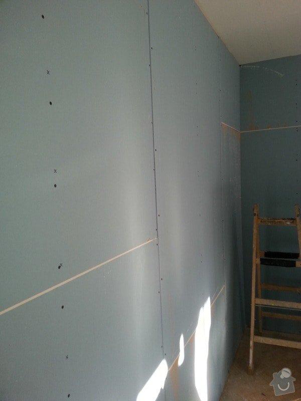 Odhlučnění stropu a stěny v paneláku.: 20140106_104915