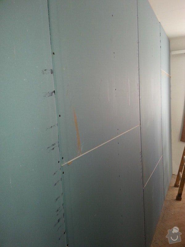 Odhlučnění stropu a stěny v paneláku.: 20140106_104928