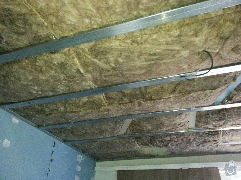 Odhlučnění stropu a stěny v paneláku.: 20140106_133536