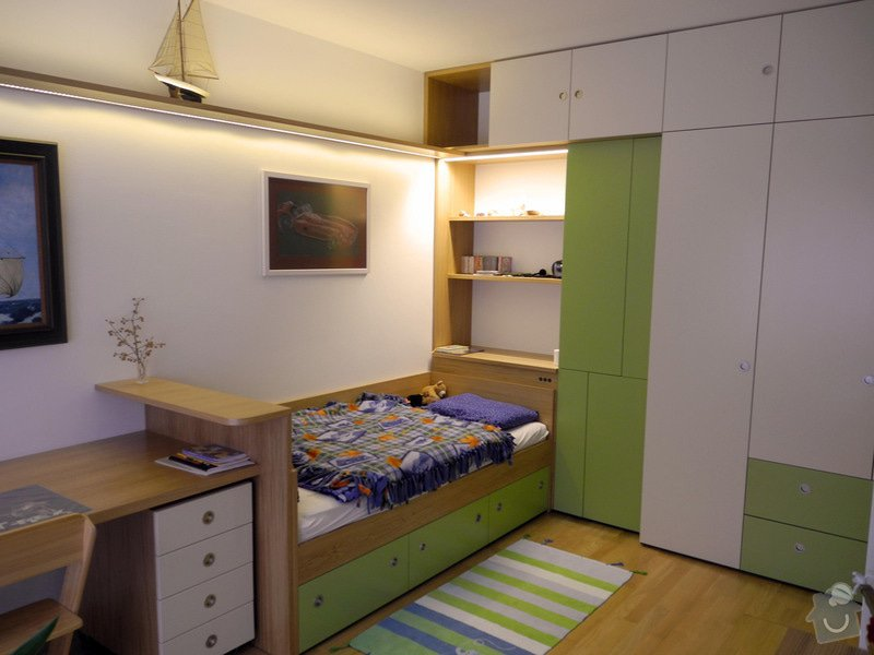 Návrh interieru obývacího a dětského pokoje: detsky_pokoj_-_realizace