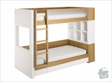 Nábytek na míru - patrová postel - 2 VARIANTY: bunkbed